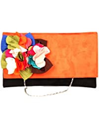 Saisha Handbag (Orange::Black) (FCB0016)