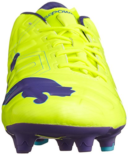 Puma Evopower 1 Men's Scarpe Da Calcio Giallo/PRISMA VIOLA/Scuba Blu 9 UK