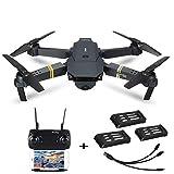 bescita Drohne mit Kamera E58 Live Übertragung,120°Weitwinkel 720P HD Kamera, WiFi FPV One Key Landung Headless Modus, Pocket Drohne für Anfänger Faltbares RC Quadcopter