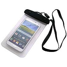 Universal Bolsa de playa / impermeable para lluvia / cubierta de nieve de 16 cm x 10 cm, por ejemplo, para Sony, Samsung, Huawei, Motorola, Medion, UHAPPY, Haier, Leagoo, Cubot, TIMMY, odys, Blackview, Uhans. Cubierta protectora transparente contra el polvo, la arena, la lluvia y aguas poco profundas para su teléfono celular, Smartphone, GPS, GPS, monederos, dinero en efectivo, objetos de valor. Sensible al tacto material. Su Sony, Samsung, Huawei, Motorola, Medion, UHAPPY, Haier, Leagoo, Cu