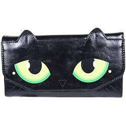 FreshGadgetz Set de 1 PU suave de Mujeres Ojo de gato Diseño Moda Monedero