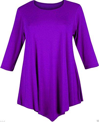 Re Tech UK - Robe - Swing - Manches Courtes - Femme noir noir 3 Violet