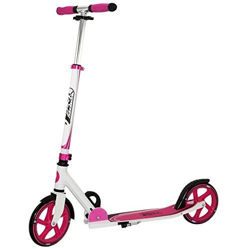 Best Sporting Unisex- Erwachsene, Magenta Scooter 205er Rolle, Cityroller aus Aluminium mit ergonomischen Griffen, Tretroller in pink/weiß
