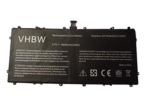 Preisvergleich Produktbild vhbw Li-Ion Akku 9000mAh (3.7V) für Netbook Pad Tab Tablet Samsung Galaxy Tab GT-P8110, HA32ARB wie SP3496A8H, SP3496A8H(1S2P), HA32ARB.
