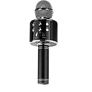 HONEY MONEY WS-858 Wireless Handheld & Bluetooth Karaoke Audio Recording Mic with Microphone & Speaker (assorted colors)