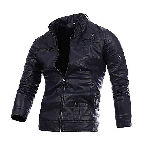 Giacca da moto in pelle da uomo giacca moto vintage da in vera pelle giacca in vera pelle da motociclista geteppt vestibilità stretta moderna per il tempo libero con colletto nero o marrone