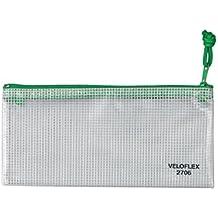 Veloflex 2706000 - Reißverschlusstasche PVC, DIN A6
