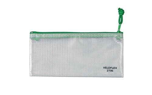Veloflex 2706000 Reißverschlusstasche 200 x 100 mm Reißverschlussbeutel Dokumententasche PVC gewebeverstärkt