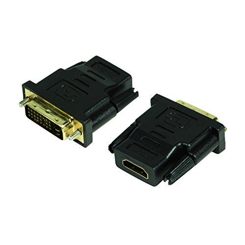 Logilink Adattatore da HDMI a DVI-D F/M, Nero