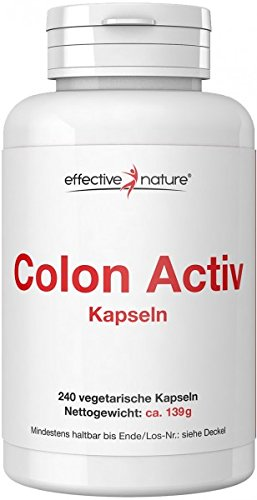 effective nature Colon Activ mit effektiver Nährstoffkombination – Schonende Darmkur mit Simple Clean Sensitve (240 Vegetarische Kapseln)