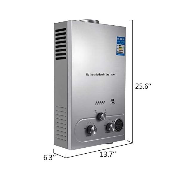 Husuper 12L LPG Calentador de Agua Sin Tanque Caldera Instantánea Baño Ducha Calentador de Agua Instantáneo Hot Water…