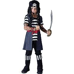 Disfraz para niño de pirata con tatuajes, (3-5 años)