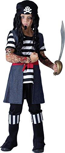 Bristol Novelty - Costume da pirata tatuato, per ragazzo