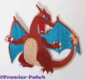 Charizard Aufnäher zum Aufbügeln/Aufnähen - 7,6 cm Pokemon Drache Badge Applikation Kostüm Cosplay Motiv