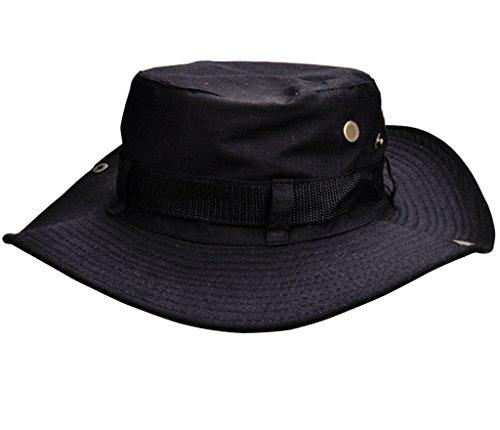 Beileer stylische Sun Hat UV-Schutz Outdoor Bucket Hat für Outdoor Angeln Camping Radfahren Jagd Golf Wandern (schwarz) -