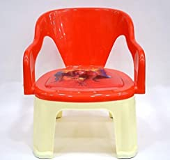 Kidzvilla® Pop N up Plastic Strong Durable Chair for Kids (Red)