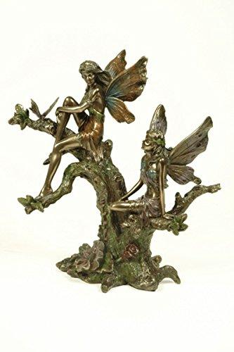 088a8288a8c Figura Decorativa Fantasía  Hadas Subidas en Árbol . Esculturas Resina. 19  x 9