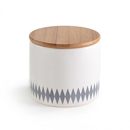 La redoute interieurs vaso contenitore in dolomite e bambu miale taglia tu ecru