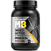 MuscleBlaze Whey Active Protein Supplement Powder (Chocolate, 1 kg / 2.2 lb, 30 Servings)