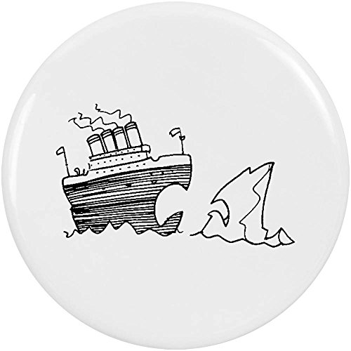 Azeeda 2 x 38mm 'Titanic & Iceberg' Small Button Pin Badges (BB00051891)