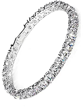 ❤Valentinstagsgeschenke❤ 925 Silber Armband Zirkonia Tennisarmreif Damen Weiß Luxus Elegant Neoglory Jewellery