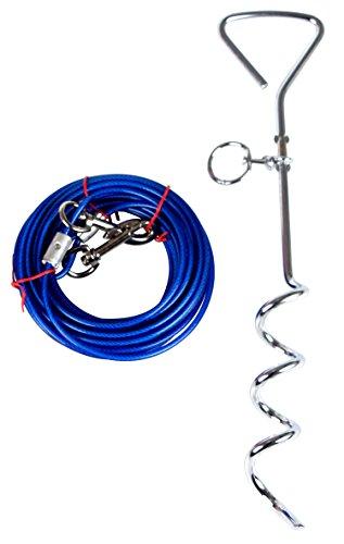 Hundestange mit Bindung heraus Kabel, Hundeanteil Yard für kleine mittlere oder große Hunde, die durch Yier spielen (Großen Hund Tie-out-kabel)