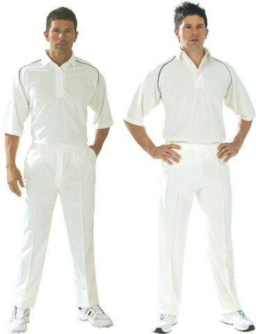 Carta Sport Cricket Whites Club Cricket, Tinta Unita, Maniche A