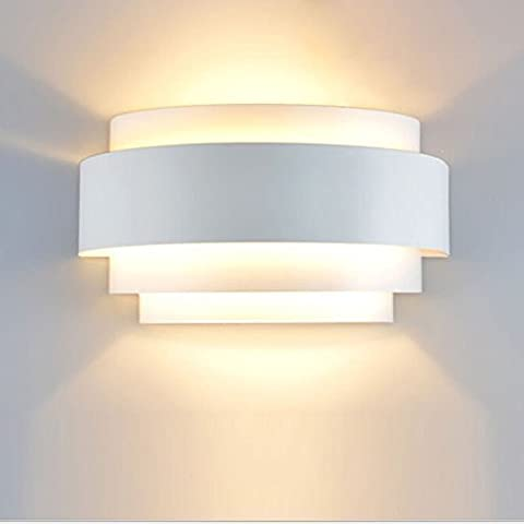 Modern LED Wall Light Sconce Up Down Wall Lights Wall Lamp E27 Perfect for Living Room Hallway Bedroom Lamps , Warm White(Light Bulb