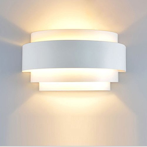 Unimall Aplique de Pared LED Moderna Lámpara de Pared en Interior Iluminacion de Pared de Noche en Hogar Bombilla Incluída para Dormitorio, Studio, Hogar Decoración, Porche, Closet Garaje