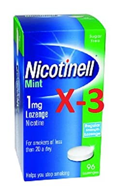 Nicotinell Lozenge Mint 1mg - 96 Lozenges - Pack of 3 from Nicotinell