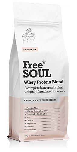 Free Soul Whey Protein / Molke Protein Pulver - Speziell für Frauen - unterstützt Hormonspiegel, Laune und Energie - Glutenfrei und Sojafrei - Schokolade (600g) (B-komplex-vitamine Lebensmittel-wissenschaft)