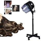 BIXINYAAN Professionnel 1050W Casque Sèche Cheveux sur Pied Coiffure Permanente pour Salon de Coiffure pour Salon au Sol Outil de...
