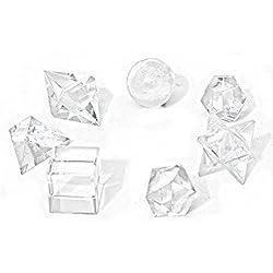 7 Cuarzos Transparentes Cristales De Roca, Sólidos Platónicos Para Feng Shui, En Bolsa