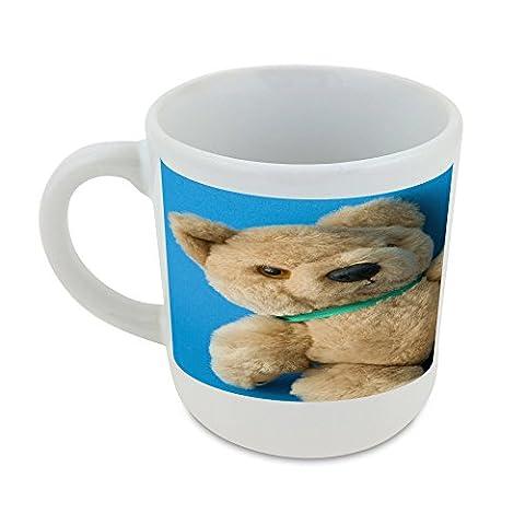 Mug with Teddy bear, blue background