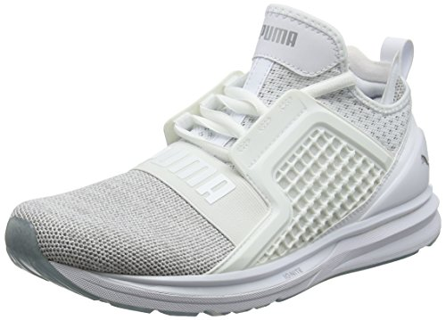 Puma Herren Ignite Limitless Knit Cross-Trainer, Weiß (Puma White-Puma Silver), 42.5 EU