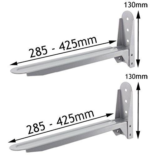 spares2go Silber verstellbar ausziehbar Halter Klammern für Whirlpool Mikrowelle -