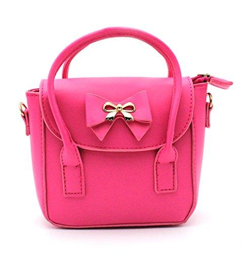Scheppend Mode kleine Mädchen Handtasche Kinder einzelner Schulterbeutel Doppelzweck Tasche Rote