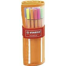 STABILO point 88 - Rotulador punta fina - Estuche premium de tela Rollerset con 30 colores