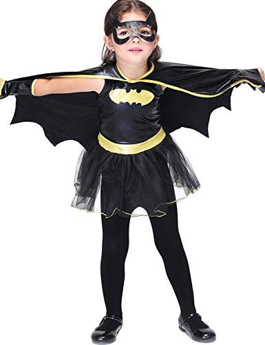 Xinsh costume da batgirl per bambini costume da halloween per ragazze super heroes outfit-batman