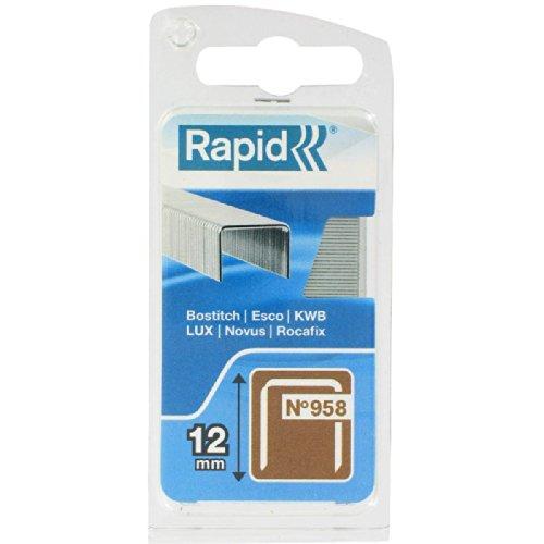 Agrafe n°958 Rapid Agraf - Hauteur 12 mm - 800 agrafes