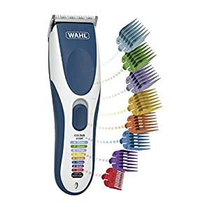 Wahl Hair Clipper Colour Pro Cordless Haircut Machine with Colour Coded Cutting Combs and Patented Colour Key Graphic Makes It Easy To Identify Your Chosen Cutting Length, Rechargeable