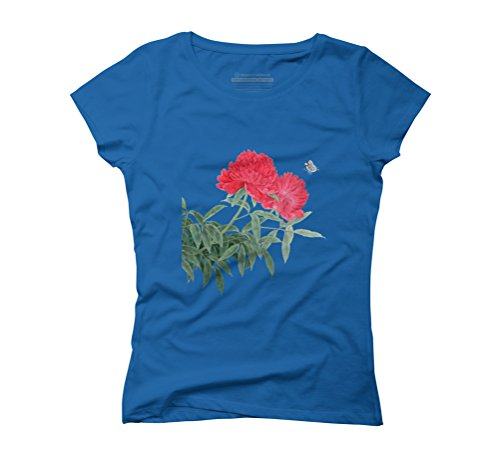 The Charm of Summer Women's Graphic T-Shirt - Design By Humans Royal Blue