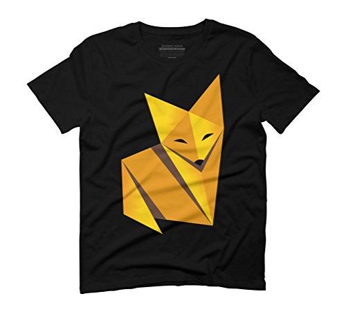 Paper Fox Men's Graphic T-Shirt - Design By Humans Schwarz