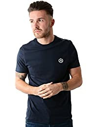 HENRI LLOYD Hombres Radar Regular Cuello Redondo Camiseta De La Marina De Guerra