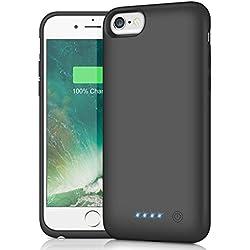 HETP Coque Batterie pour iPhone 6/6S/7/8 [6000 mAh], Portable Rechargeable Batterie Chargeur Puissant Power Bank Externe Chargeur Banque Secours Batterie Chargeur Protection pour iPhone 6/6s/7/8