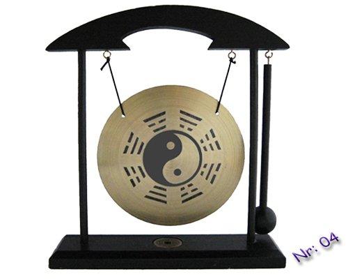 Tisch-Gong Holzständer Fengshui incl.Schlegel viele Motive (YinYang)