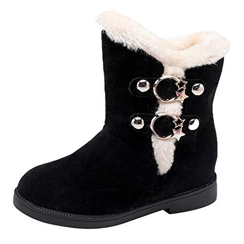 Botas de Nieve,BBestseller Zapatos Invierno Mujer Cuña de Gamuza Redonda Martain Boot Calzado Casual Zapatillas Deportes Sneakers
