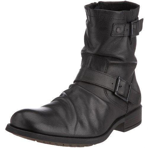 Base London Metal KY02010 - Botas de Cuero para Hombre, Color Negro, Talla 41