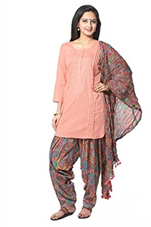 Peach Colored Solid Kurti