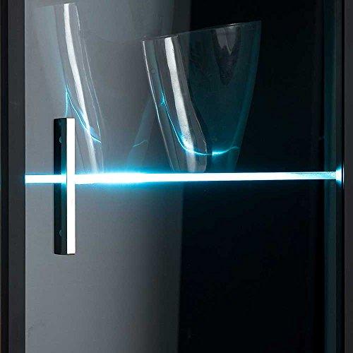 Design Wohnwand in Weiß Hochglanz Beleuchtung (4-teilig) Mit blauer Beleuchtung Pharao24 - 6